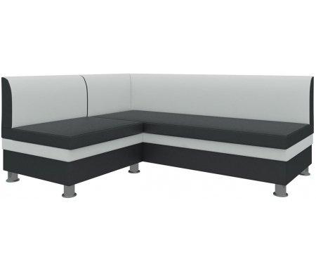 Купить Кухонный диван Mebelico, Уют угловой экокожа бело-черных левый, Россия, белый / черный