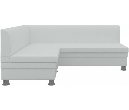 Купить Кухонный диван Mebelico, Уют угловой экокожа белый левый, Россия