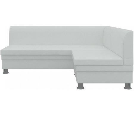 Купить Кухонный диван Mebelico, Уют угловой экокожа белый правый, Россия