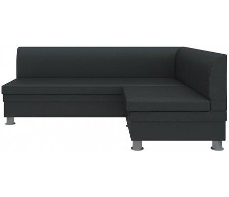 Купить Кухонный диван Mebelico, Уют угловой экокожа черный правый, Россия