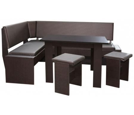 Купить Кухонный уголок БТС-мебель, Чикаго венге / какао, Россия