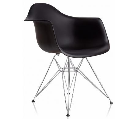 Кресло Hames хромированный каркас черныйСтулья на металлокаркасе<br><br><br>Ширина: 64 см<br>Глубина: 60 см<br>Высота: 81 см<br>Материал каркаса: хромированный металл<br>Материал сиденья и спинки: пластик<br>Цвет: черный