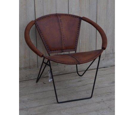 Кресло NEMO 3240 коричневыйСтулья на металлокаркасе<br>Кресло Secret de Maison  в стиле Лофт. Материал: кожа буйвола / сталь.<br>