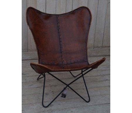 Кресло NEWTON М-3034 коричневыйСтулья на металлокаркасе<br>Кресло Secret de Maison в стиле Лофт. Материал: кожа буйвола / сталь. Объем в упаковке 0,38 куб. м.<br>
