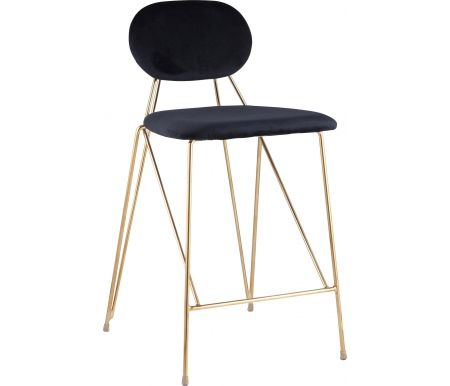 Полубарный стул Стул Груп Сенейрон вельвет темно-синий фото