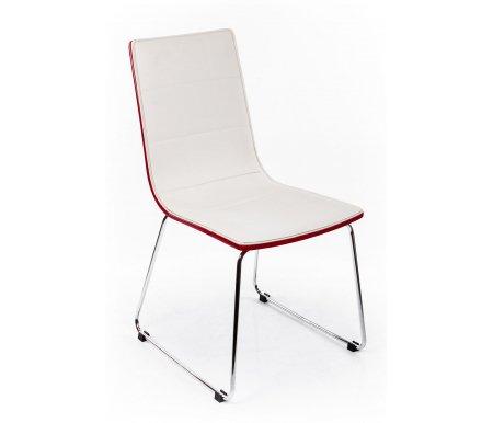 Стул LMC-001 красныйСтулья на металлокаркасе<br>Стул LMC-001 - идеальный стул для жилых и кухонных помещений. Широкие сиденье и спинка обеспечивают максимальный комфорт сидящего. Стул обит кожзаменителем, что делает стулья практичными и легко чистящимися. Добротные швы обеспечат долговременную службу стула.<br>