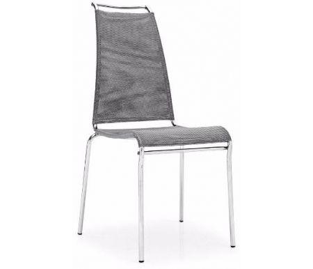 Стул AIR HIGHСтулья на металлокаркасе<br>Каркас стула AIR HIGH от фабрики Calligaris изготовлен из матового металла, обивка выполнена из сетки, которая представляет из себя особый синтетический материал - дышащий и легко поддающийся мойке-чистке. <br> <br>  <br> <br> <br>Дизайн модели разработан студиямиFrancesco &amp; Stefano Borella, S.T.C.<br>