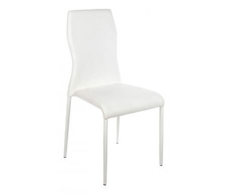 Стул C130716 белыйСтулья на металлокаркасе<br>Ножки стула обиты искусственной кожей.<br>Расстояние между передними ножками 46 см. <br>Расстояние между ножками сбоку 48 см.<br>