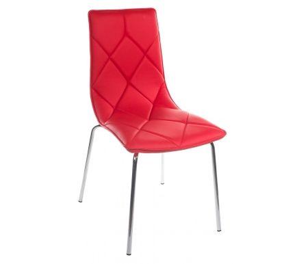 Стул DC392 красныйСтулья на металлокаркасе<br>Каркас стула DC392 изготовлен из хромированного металла, обивка выполнена из кожзаменителя красного цвета.<br><br>Ширина сиденья: 47,5 см<br>Глубина сиденья: 59 см<br>Высота спинки: 88,5 см<br>Материал каркаса: хромированный металл<br>Материал обивки: кожзаменитель<br>Цвет обивки: красный