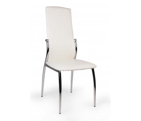 Стул F-68 белыйСтулья на металлокаркасе<br><br><br>Ширина сиденья: 45 см<br>Глубина сиденья: 42 см<br>Высота спинки: 100 см<br>Материал каркаса: хромированный металл<br>Материал обивки: кожзаменитель<br>Цвет обивки: белый
