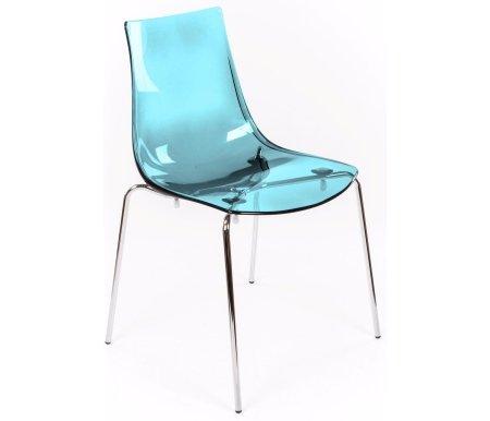 Стул LED-I аквамариновый прозрачный (P296 pc)Стулья на металлокаркасе<br>Удобный и легкий, этот стул отлично подойдет для кухонь и баров. Сиденье пластиковое, полупрозрачное, исполнено в нескольких цветах. Каркас металлический, устойчивый, на четырех ножках. В этом стуле хорошо сочетаются легкий вес, прочные материалы и стиль.<br>