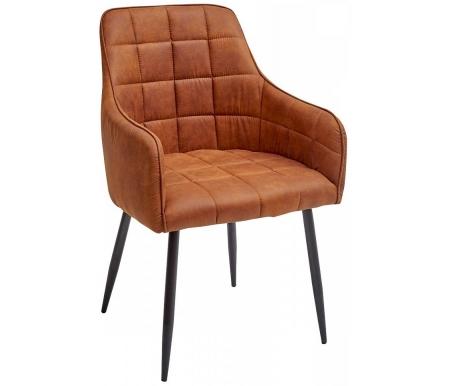 Купить Стул Мебель Малайзии, на металлокаркасе Heidi коричнево-рыжий винтажный