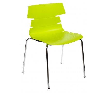 Стул СТ-603Стулья на металлокаркасе<br>Удобный и современный стул СТ-603 подходит для использования в гостиных и кухнях, на дачах и в кафе. Его яркий цвет поднимет вам настроение в любую погоду.<br><br>Ширина: 58 см<br>Глубина: 51 см<br>Высота: 81 см<br>Материал каркаса: хромированный металл<br>Материал сиденья и спинки: пластик<br>Цвет: лайм