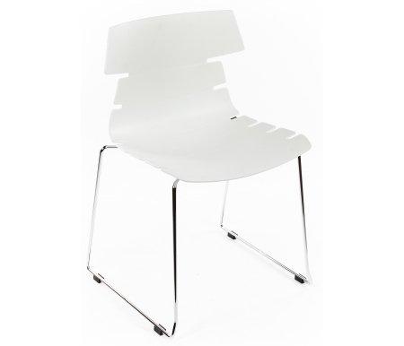 Стул СТ-605Стулья на металлокаркасе<br>Удобный и современный стул СТ-605 подходит для использования в гостиных и кухнях, на дачах и в кафе. Представлен в двух цветовых вариантах.<br><br>Цвет: Белый<br>Цвет: Серый<br>Ширина: 58 см<br>Глубина: 51 см<br>Высота: 81 см<br>Материал каркаса: хромированный металл<br>Материал сиденья и спинки: пластик<br>Цвет: белый, серый