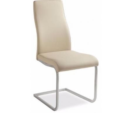 Стул VICTORIA/S хром (CR) /  бежевый (SH28)Стулья на металлокаркасе<br>Стул VICTORIA/S имеет изогнутые сиденье и спинку, что обеспечивает комфорт и поддержку спины. Стул отлично подходит для кафе и для дома.<br> Сиденье и спинка обиты экокожей, что позволяет легко мыть данный стул. Каркас - хромированный металл.<br><br>ширина: 43 см<br>глубина: 56,5 см<br>высота: 98 см