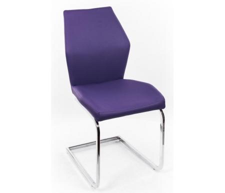Стул Y-119 фиолетовыйСтулья на металлокаркасе<br><br><br>Ширина сиденья: 44 см<br>Глубина сиденья: 43 см<br>Высота спинки: 90 см<br>Материал каркаса: хромированный металл<br>Материал обивки: кожзаменитель<br>Цвет обивки: фиолетовый