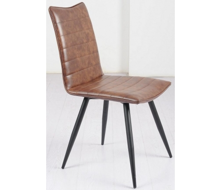 Стул Мебель Малайзии на металлокаркасе Bloom brown