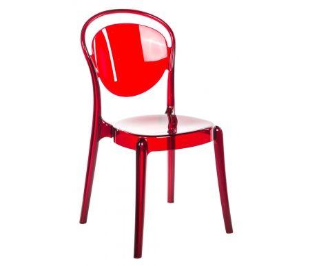 Стул PARISIENNE красныйПластиковые стулья<br>Каркас стула PARISIENNE фабрики Calligaris полностью изготовлен из полупрозрачного пластика.Невесомый стул PARISIENNE визуально совсем не занимает места благодаря своей прозрачности. Внешне его материал напоминает хрупкое стекло, что добавляет ему особую изюминку. <br> <br>    <br>   <br> <br>Дизайн модели разработан студиейArchirivolto.<br>