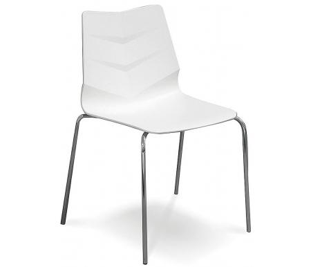 Купить Стул ESF, пластиковый LEAF-01 белый / Лион-01 белый
