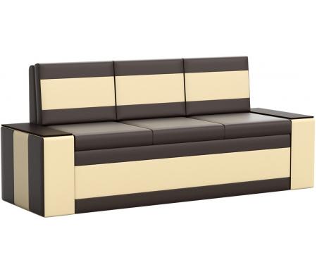 Купить Кухонный диван Mebelico, Лина экокожа коричнево-бежевый, Россия, коричневый / бежевый