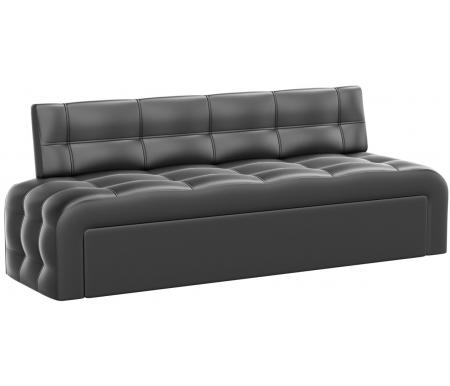Купить Кухонный диван Mebelico, Люксор экокожа черный, Россия
