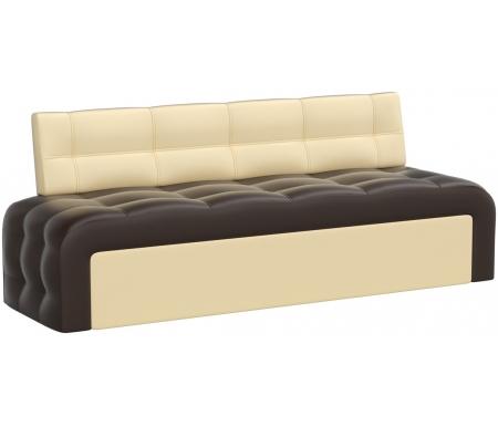 Купить Кухонный диван Mebelico, Люксор экокожа коричнево-бежевый, Россия, коричневый / бежевый