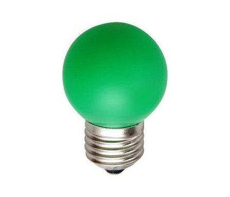 Лампа светодиодная LB-37 E27 220В 1Вт зеленый цвет 25117Лампочки<br><br>