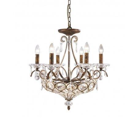 Подвесная люстра OML-710 OML-71003-10Хрустальные люстры<br>указана высота светильника без подвеса<br>
