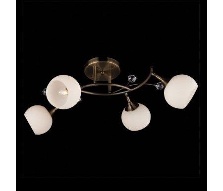 Светильник на штанге 9604/4 античная бронзаЛюстры на штанге<br><br>