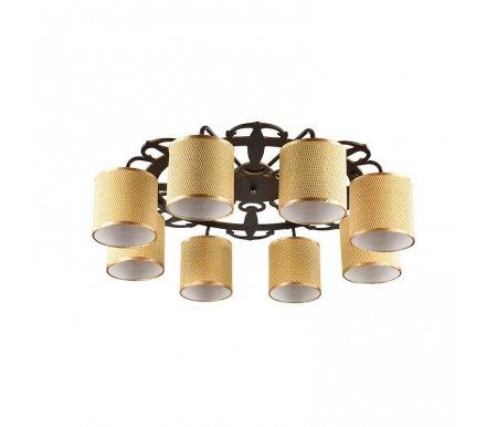 Люстры потолочные потолочная Timone FR100-08-R коричневая  Люстра Freya