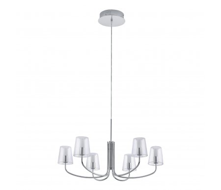 Подвесная люстра Noventa 94622Светодиодные люстры<br>способ крепления светильника к потолку - на монтажной пластине<br>