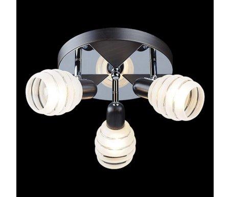 Спот 72803/3 хром/венгеПотолочные споты<br>поворотный светильник<br>