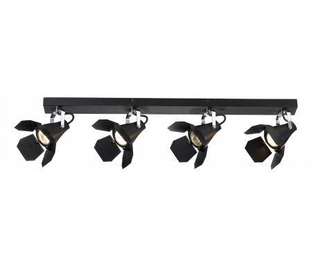 Спот Cinema A3092PL-4BKПотолочные споты<br>способ крепления светильника к потолку и стене – на монтажной пластине,<br>