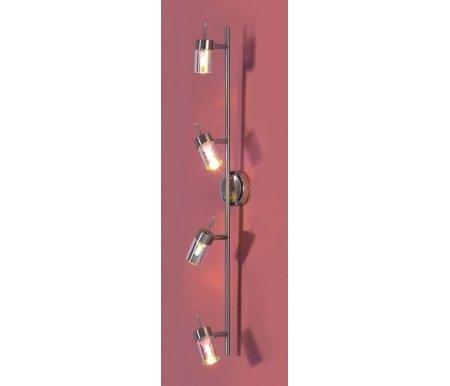 Спот Миррор CL510541Потолочные споты<br>Среди предложений бренда Citilux найдутся варианты на самый взыскательный вкус. Оригинальная серия Миррор украсит интерьеры  в стиле гламур – вакуумное перламутровое напыление обеспечивает не только роскошный и необычный внешний вид, но и особенно интимное рассеивание света. Поворотные патроны светильника CL510541 позволяют акцентировать внимание на определенных точках пространства. Длинная планка может быть закреплена как на стене – горизонтально или вертикально, так и на потолке.<br>