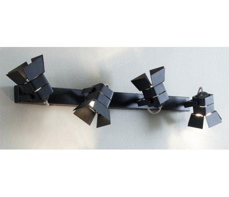 Спот Рубик CL526542SПотолочные споты<br>Компания из Дании Citilux черпает вдохновение повсюду. Тем, кто всегда мечтал стать звездой сцены, понравится серия Рубик.  Спот-светильник CL526542S – это миниатюрная версия театральных софитов. Металлические рассеиватели на кронштейнах вращаются на 360 градусов, позволяя выделить сразу 4 точки комнаты световым пятном. Модель может выступить как альтернатива люстре или бра.<br>
