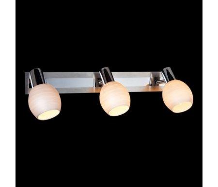 Спот 20121/3 хром-сатин/никельСпоты<br>поворотный светильник<br>