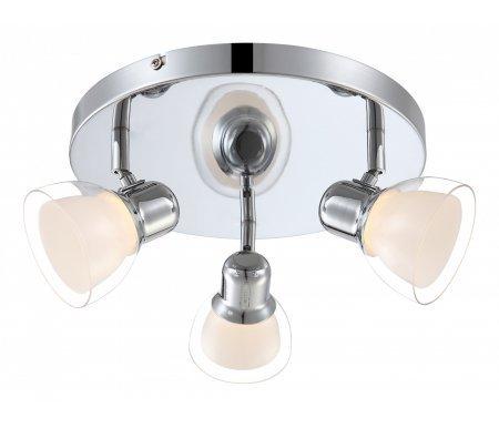 Спот Nashville 56182-3Светодиодные светильники<br>способ крепления светильника к стене и потолку - на монтажной пластине,<br>